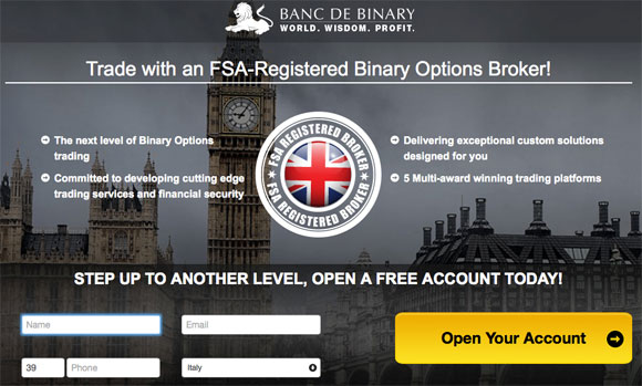 banc de binary FCA broker