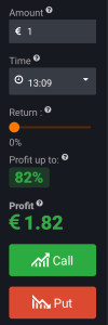 iqoption trade 1$